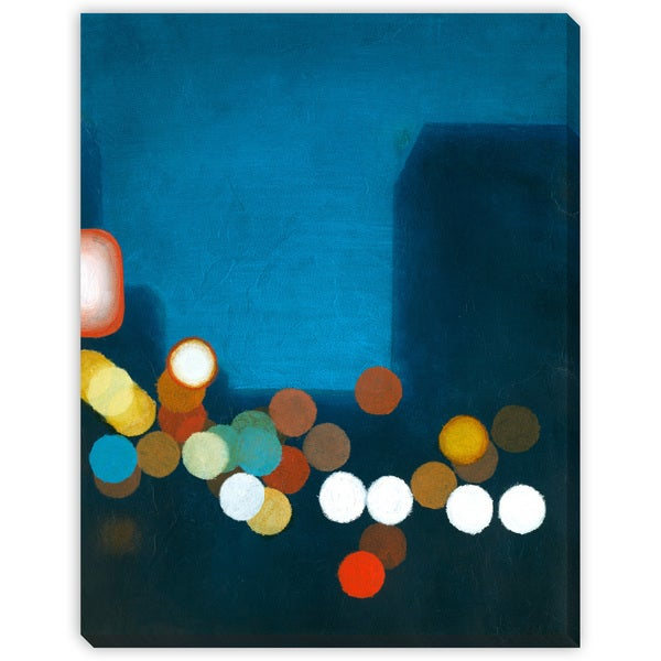 Flashing Lights I Oversized Gallery Wrapped Canvas