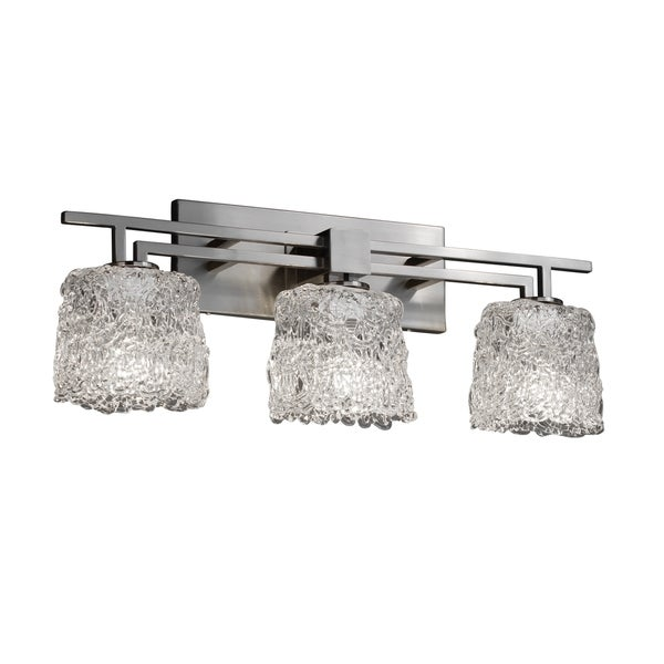 Justice Design Group Veneto Luce Aero 3-light Bath Bar