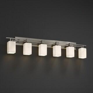 Justice Design Group Fusion Aero 6-light Bath Bar