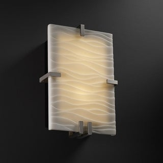 Justice Design Group Porcelina Clips 2-light Wall Sconce
