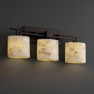 Justice Design Group Alabaster Rocks! Aero 3-light Bath Bar