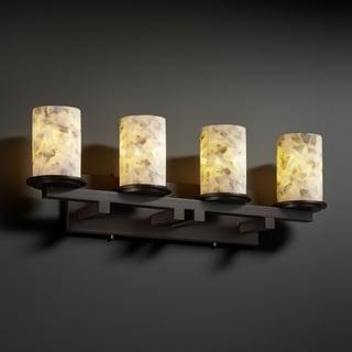 Justice Design Group Alabaster Rocks! Dakota 4-light Bath Bar