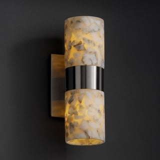 Justice Design Group Alabaster Rocks! Dakota 2-light Wall Sconce