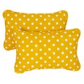 Yellow Dots Corded 13 x 20 inch Indoor/ Outdoor Throw Pillows (Set of 2)