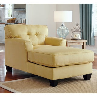 Signature design by ashley kylee goldenrod linen chaise lounge for Ashley kylee chaise