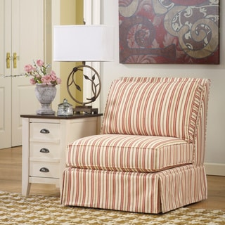 Signature Design by Ashley Lucretia Sand Striped Armless Accent Chair
