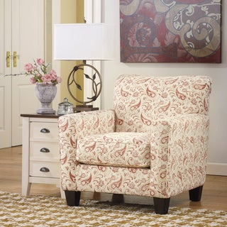 Signature Design by Ashley Lucretia Sand Paisley Pattern Accent Chair