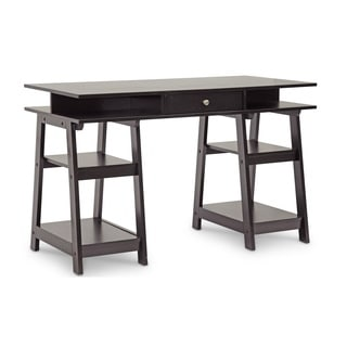 Baxton Studio Trenton Dark Brown Modern Desk