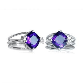 Handcrafted Sterling Silver Bali Faceted Amethyst Ring (Indonesia)