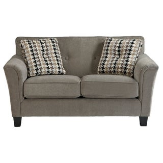 Signature Design by Ashley Denham Mercury Loveseat with Accent Pillows
