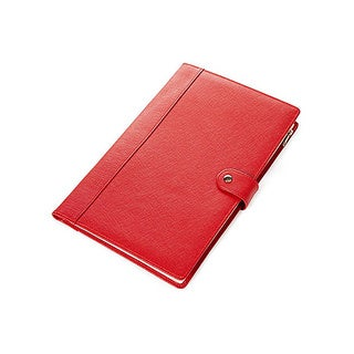 Morelle Naomi Saffiano Red Leather Jewelry Notebook