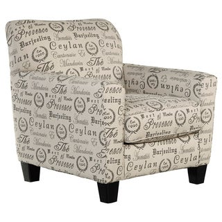 Signature Design by Ashley Alenya Slate Script Print Accent Chair