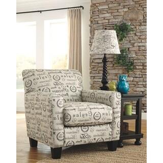 Signature Design by Ashley Alenya Quartz/ Tan Script Print Accent Chair