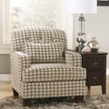 Signature Design by Ashley Donella Barley/ Herb Houndstooth Print Fabric Accent Chair