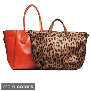 Solid Glossy Top-handle Tote with Detachable Liner