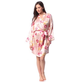 Julianna Rae Rose Memories Silk Short Robe