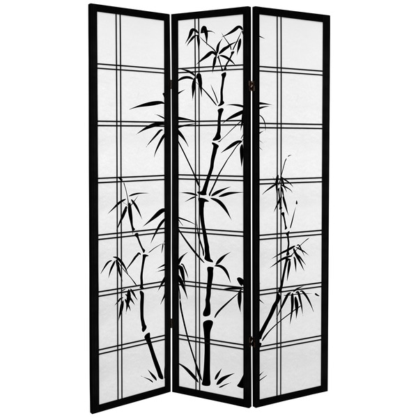 6-foot Tall Canvas Bamboo Tree Room Divider