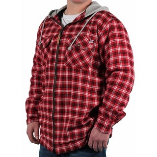 Farmall IH Men's Hooded Plaid Shirt Jacket
