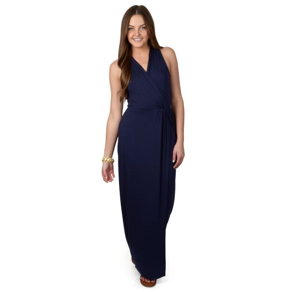 Calvin Klein Women's Sleeveless Wrap Maxi Dress