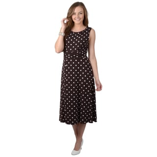 Jessica Howard Women's Sleeveless Polka-dot Dress