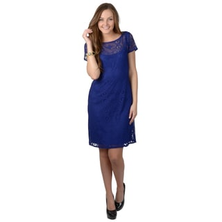 Jessica Howard Women's Short-sleeve Lace Dress