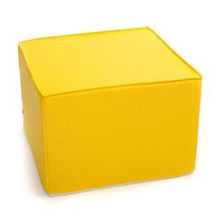 Softblock 22-inch Square Sunshine Yellow Outdoor Ottoman