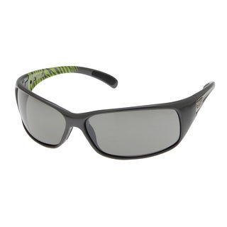 Bolle Men's 'Recoil' Shiny Gunmetal/ Green Frame Sport Sunglasses
