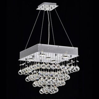 Courthouse Square 20-inch Chrome 5-light Crystal Chandelier