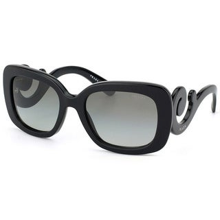Prada Women's 'PR 27OS 1AB3M1' Gloss Black Minimal-Baroque Sunglasses