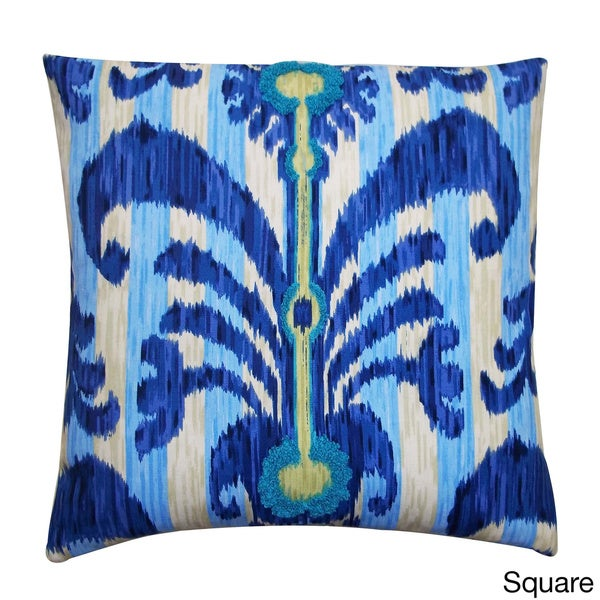 Vivid Blue Java Abstract Accent Pillow