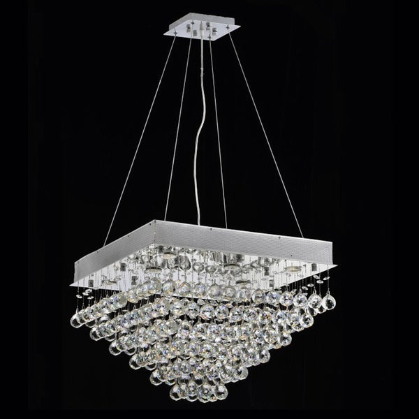 Courthouse Square Rain 8-light Chrome Crystal Chandelier