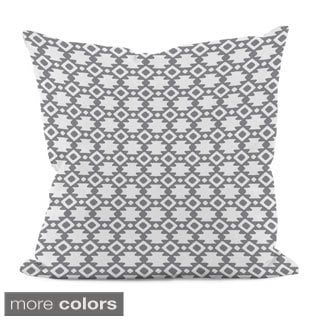 18 x 18-inch Purple Geometric Decorative Throw Pillow