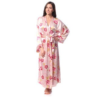 Julianna Rae Women's 'Rose Memories' Long Silk Robe