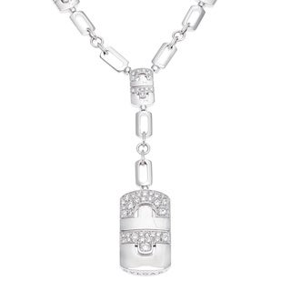 Bvlgari 18k White Gold 1ctw Diamond Parentesi Revolution Necklace (D-F, VVS1)