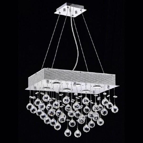 6 Light Crystal Chandelier Rain Drop