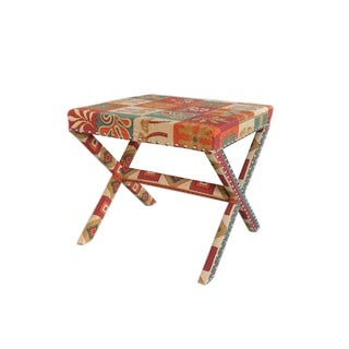 Kilim Upholstered Footstool
