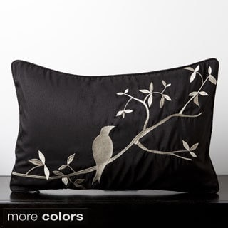 Sakura Mocking Bird Decorative Throw Pillow 13x20-inch
