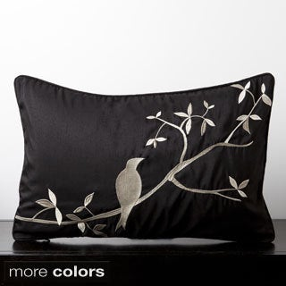 Sakura Mocking Bird Decorative Feather and Down Filled Throw Pillow 13x20-inch
