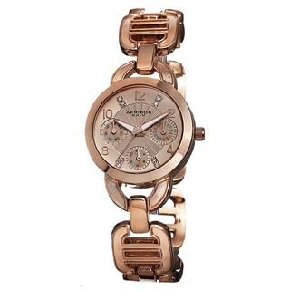 Akribos XXIV Women's Quartz Multifunction Link Bracelet Watch
