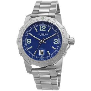 Akribos XXIV Men's Date Luminescent Stainless Steel Bracelet Watch