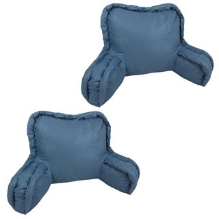 Corded Chintz Bedrest Back Support Pillows (Set of 2)