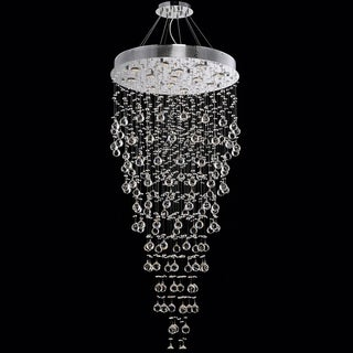 Falling Rain 12-light Chrome Crystal Chandelier