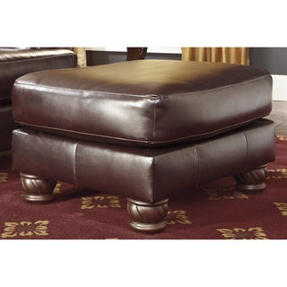 Signature Design by Ashley Weslynn Place Burgundy Ottoman