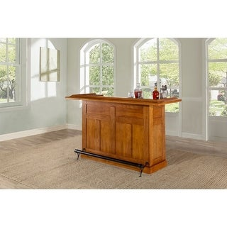 Classic Large Oak Home Bar