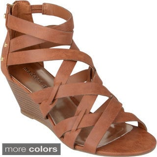 Madden Girl Women's 'Hiifiv' Strappy Studded Wedges