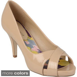 Madden Girl Women's 'Gertiee' Patent Open Toe Pumps