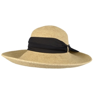 Journee Collection Women's Wide Brim Ribbon Accent Hat