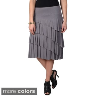Journee Collection Women's Stretchy Tiered Skirt