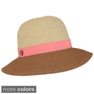 Journee Collection Women's Tonal Ribbon Accent Hat