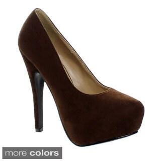 Forever Women's 'Elegant-89' Concealed Platform High Heel Pumps